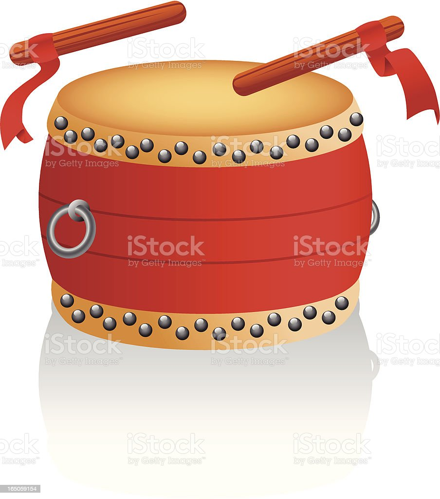 Chinese Drum vector art illustration