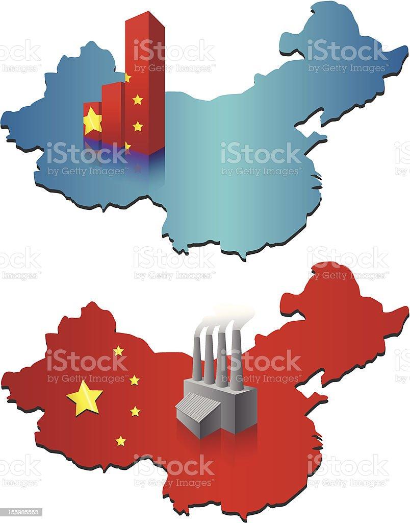 Chinese Economic Growth [vector] vector art illustration