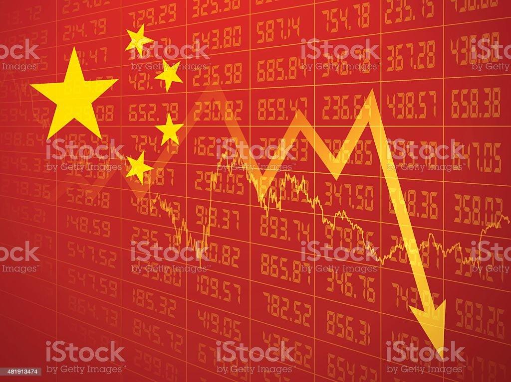 Chinese economy background vector art illustration