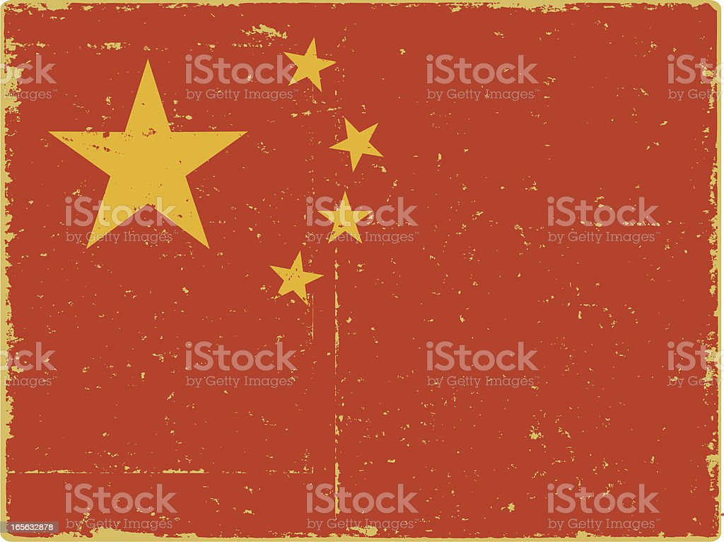 Chinese Flag royalty-free stock vector art