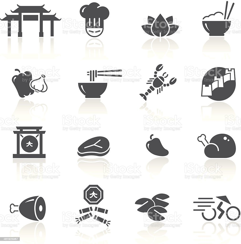 Chinese Food & Restaurant 1/2 vector art illustration