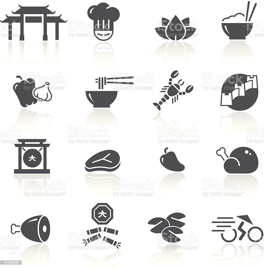 Chinese Food & Restaurant 1/2 vector art illustration