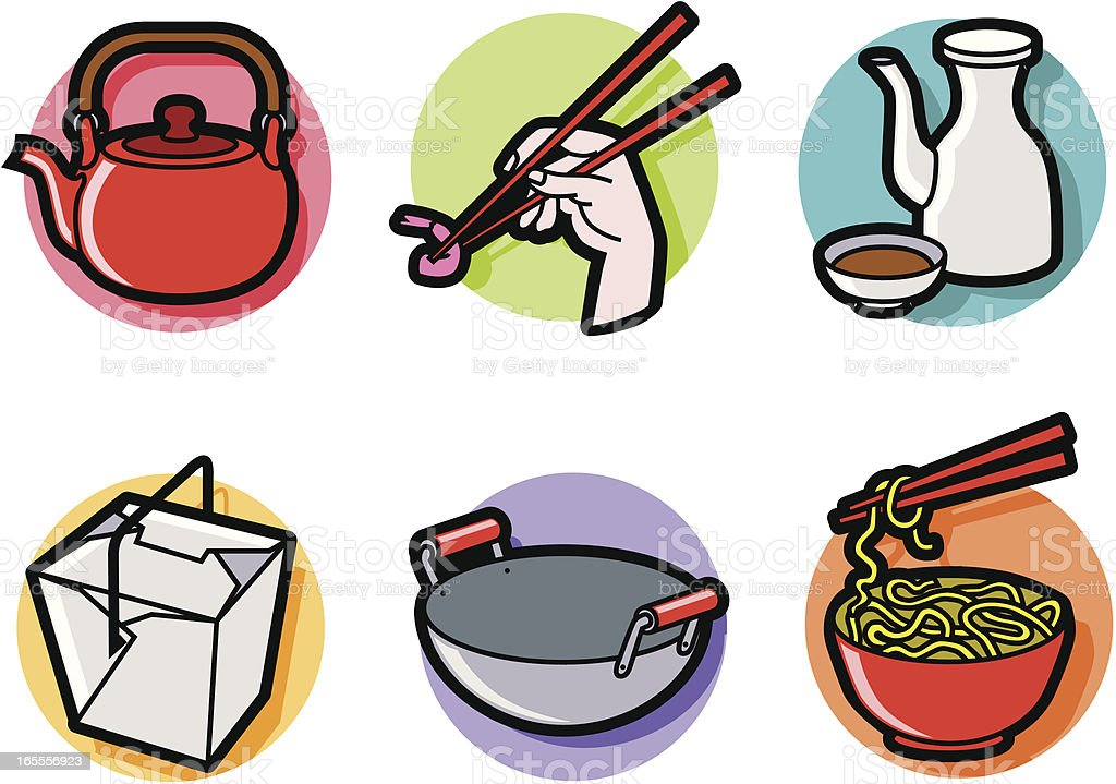 Cartoon Chinese Food Royalty Free Stock Photography - Image: 10575837