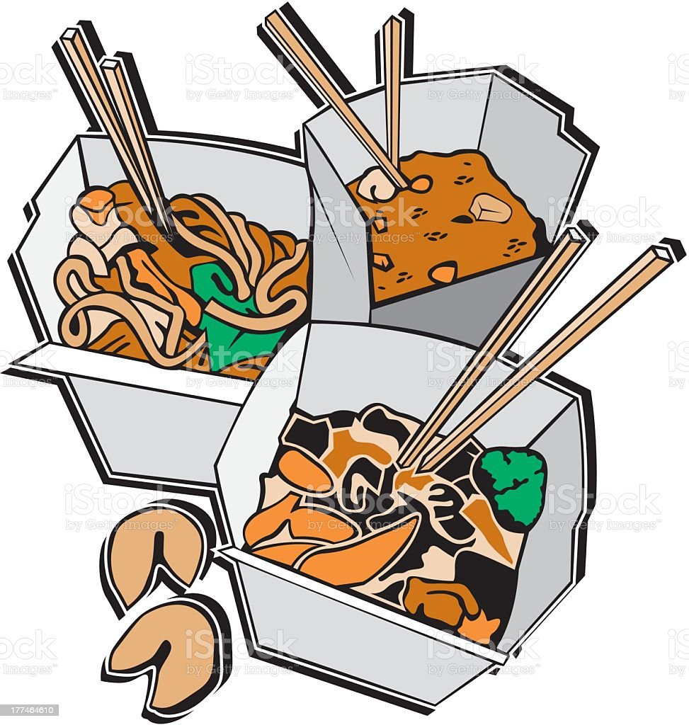 Chinese Food royalty-free stock vector art