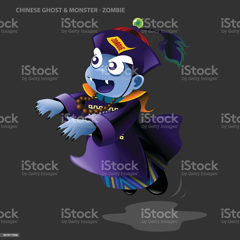 Chinese Ghost & Monster Collection - Zombie vector art illustration