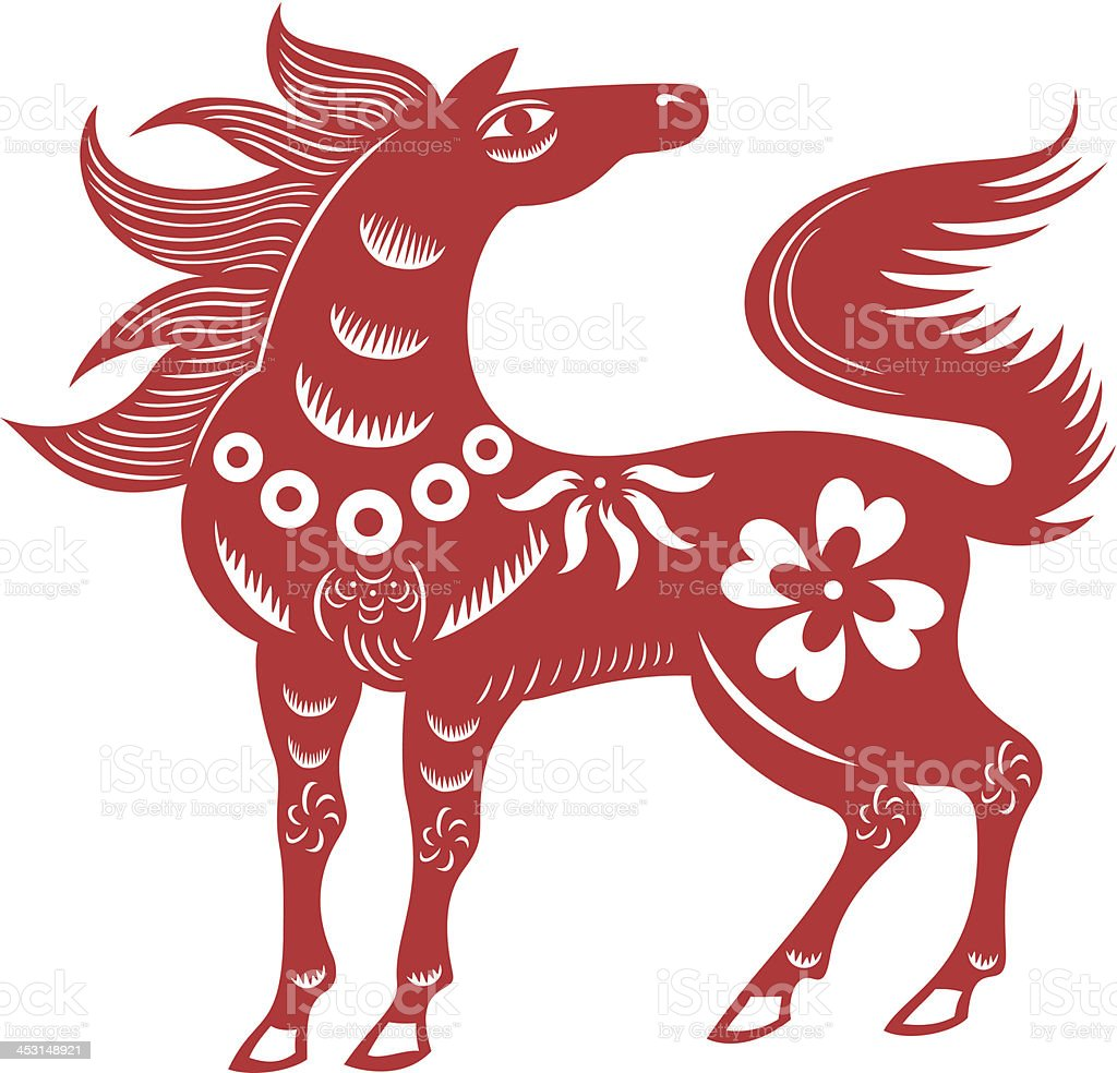 Chinese Horse royalty-free stock vector art