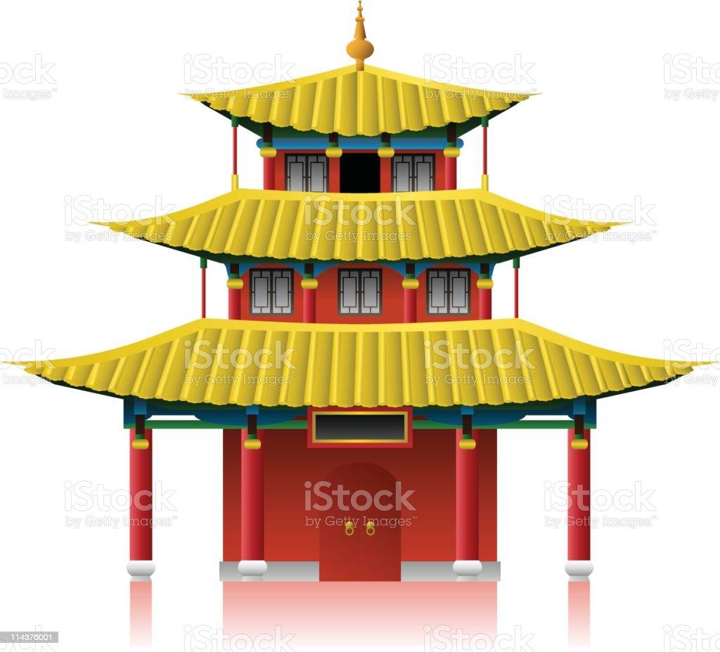 Chinese House vector art illustration