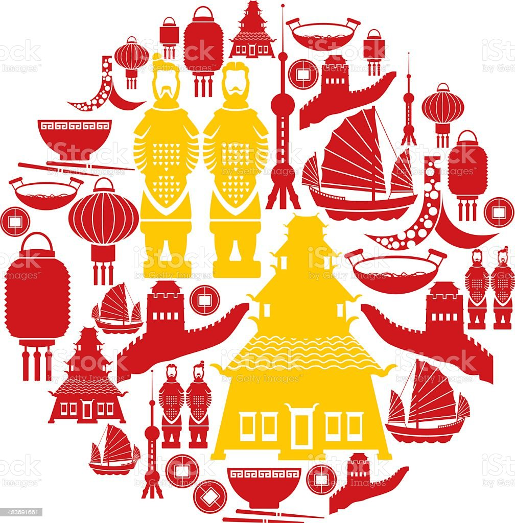 Chinese Icon Set royalty-free stock vector art