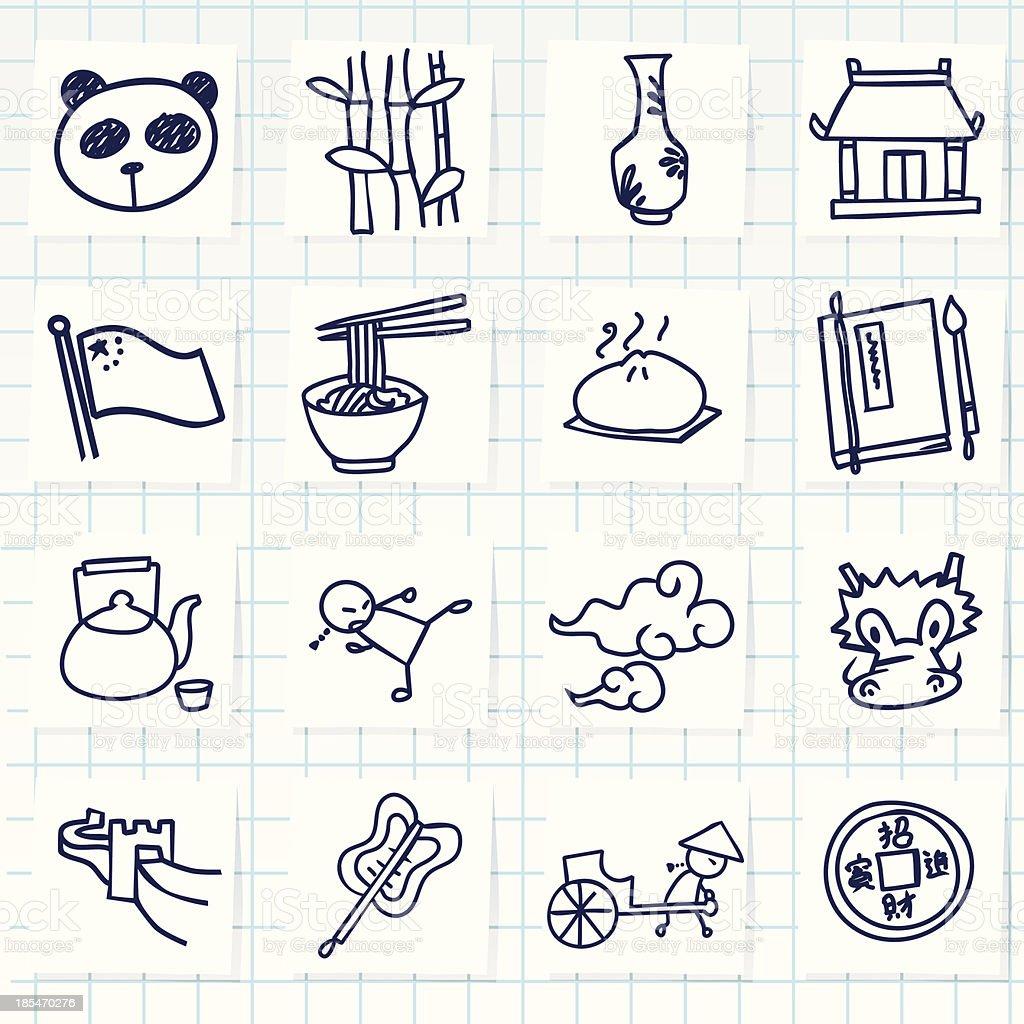 Chinese Icon vector art illustration