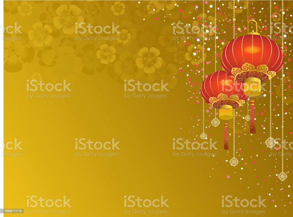 Chinese Lantern Background vector art illustration
