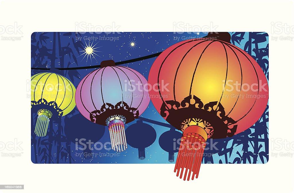 Chinese Lanterns royalty-free stock vector art