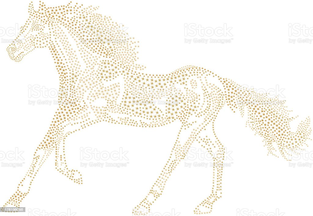 Chinese Lunar New Year of the Horse Zodiac. royalty-free stock vector art