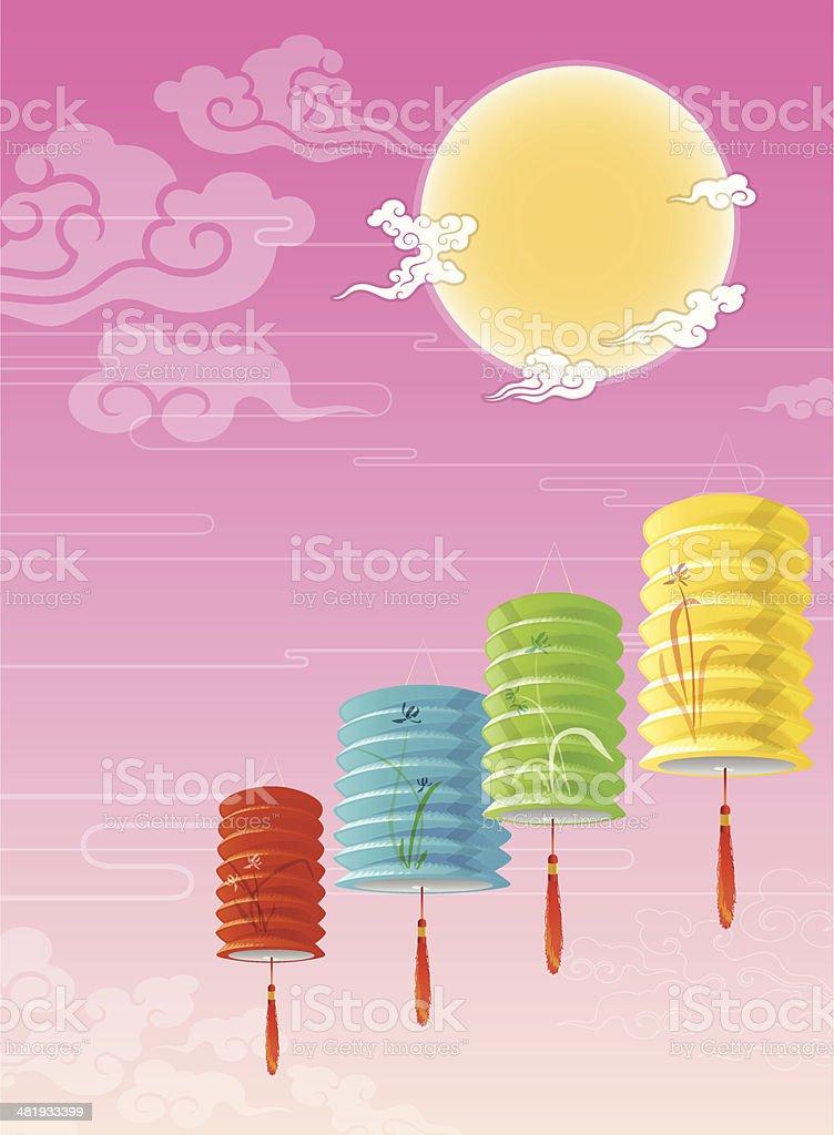 Chinese mid autumn festival vector art illustration