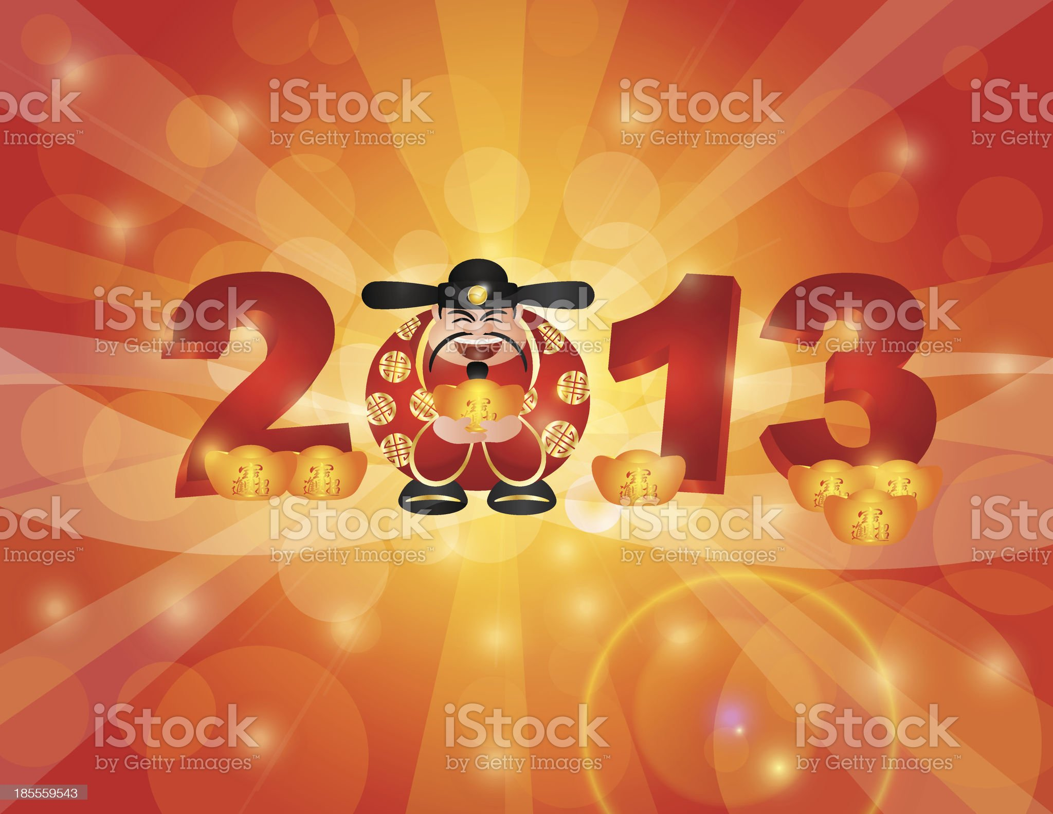 Chinese New Year 2013 Money God royalty-free stock vector art