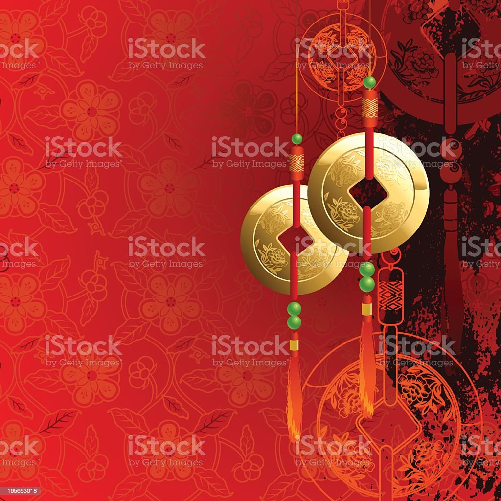 Chinese New Year Abstract vector art illustration