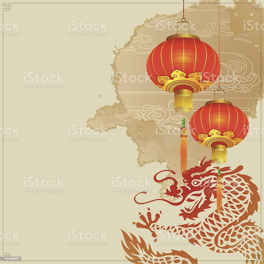 Chinese New Year Abstract royalty-free stock vector art
