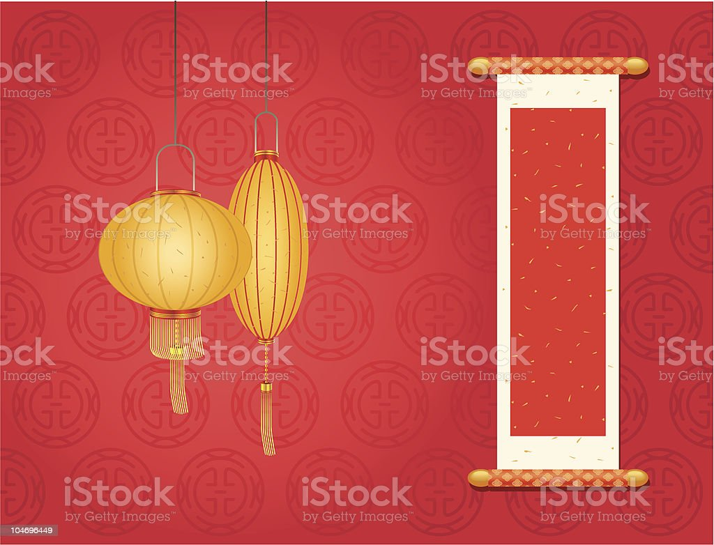 Chinese New Year Day vector art illustration