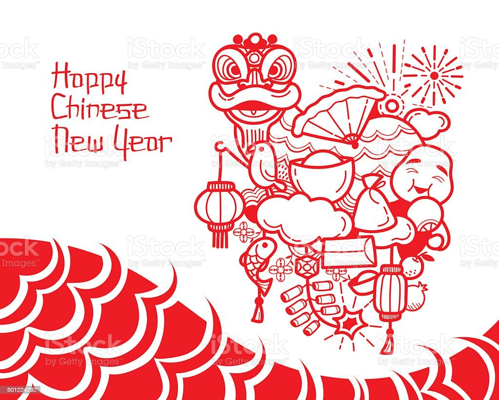 Chinese New Year Decoration Royalty Free Stock Vector Art