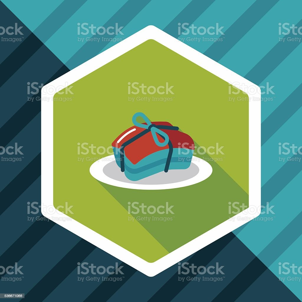 Chinese New Year flat icon with long shadow,eps vector art illustration