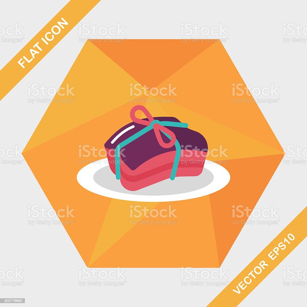 Chinese New Year flat icon with long shadow,eps10 vector art illustration