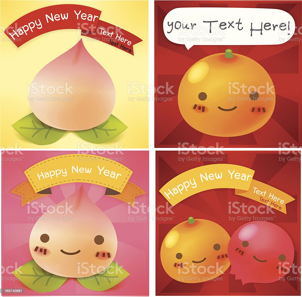 Chinese New Year Greeting card royalty-free stock vector art