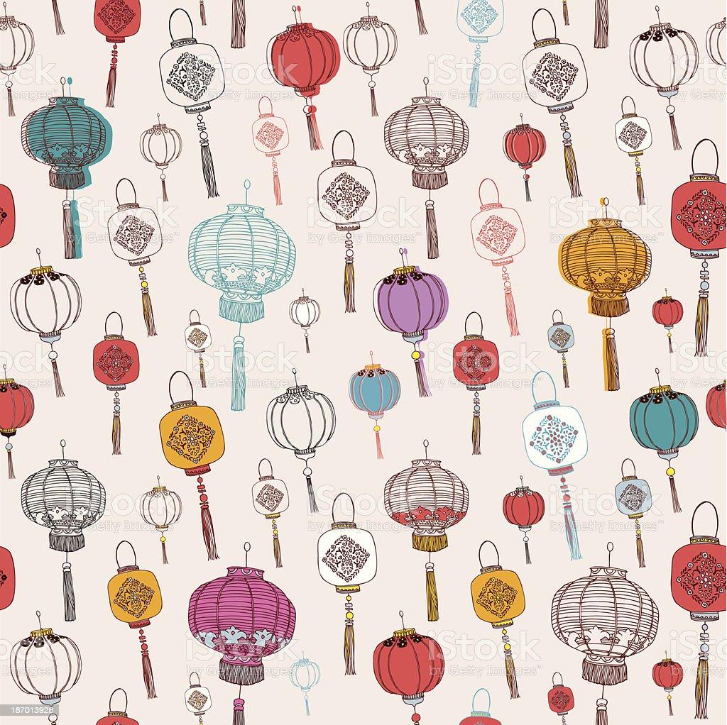 Chinese New Year Lanterns. royalty-free stock vector art