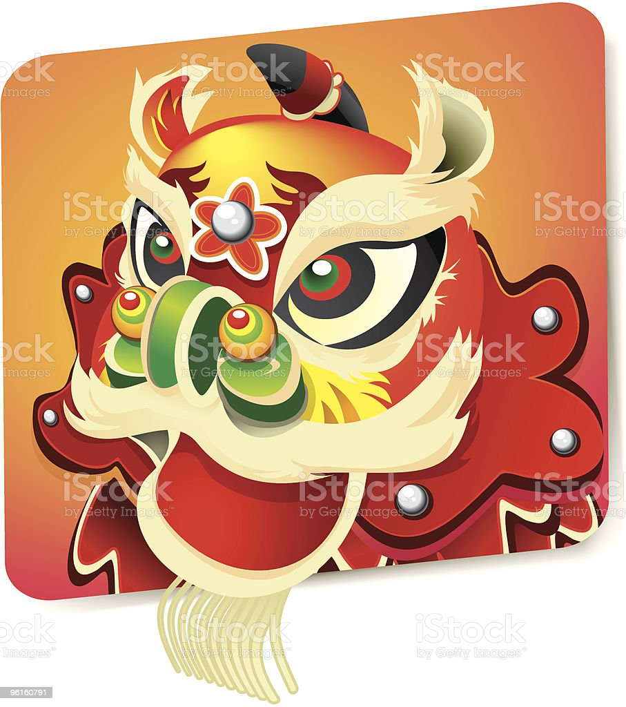 Chinese New Year Lion vector art illustration