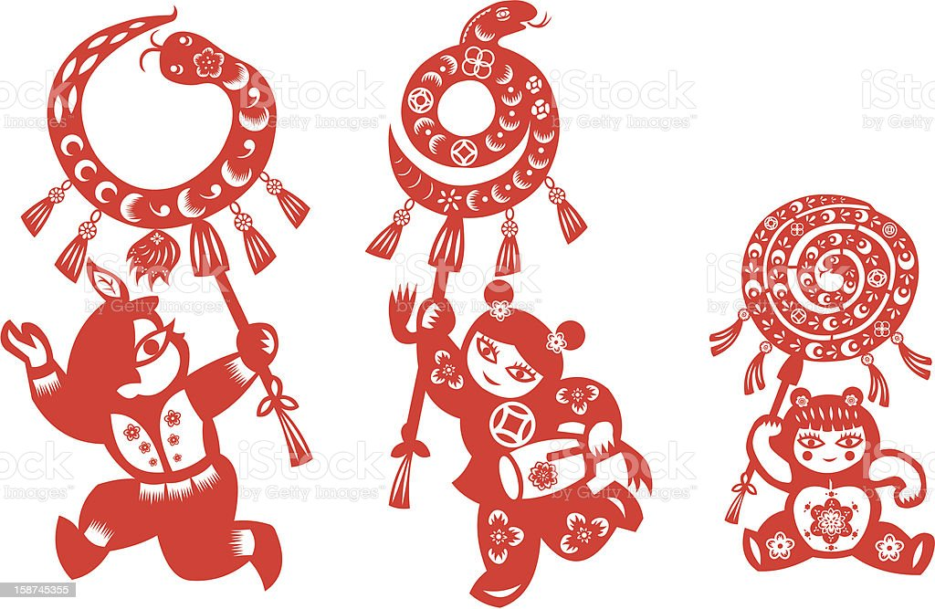 Chinese New Year Snake royalty-free stock vector art