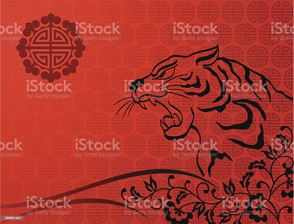 Chinese New Year Tiger royalty-free stock vector art