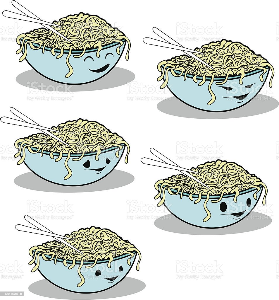 chinese noodles royalty-free stock vector art