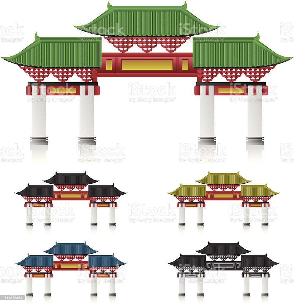 Chinese Paifang royalty-free stock vector art