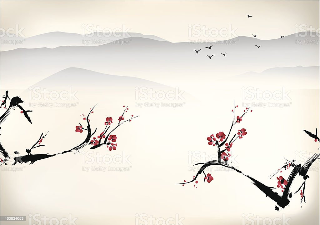 Chinese painting royalty-free stock vector art