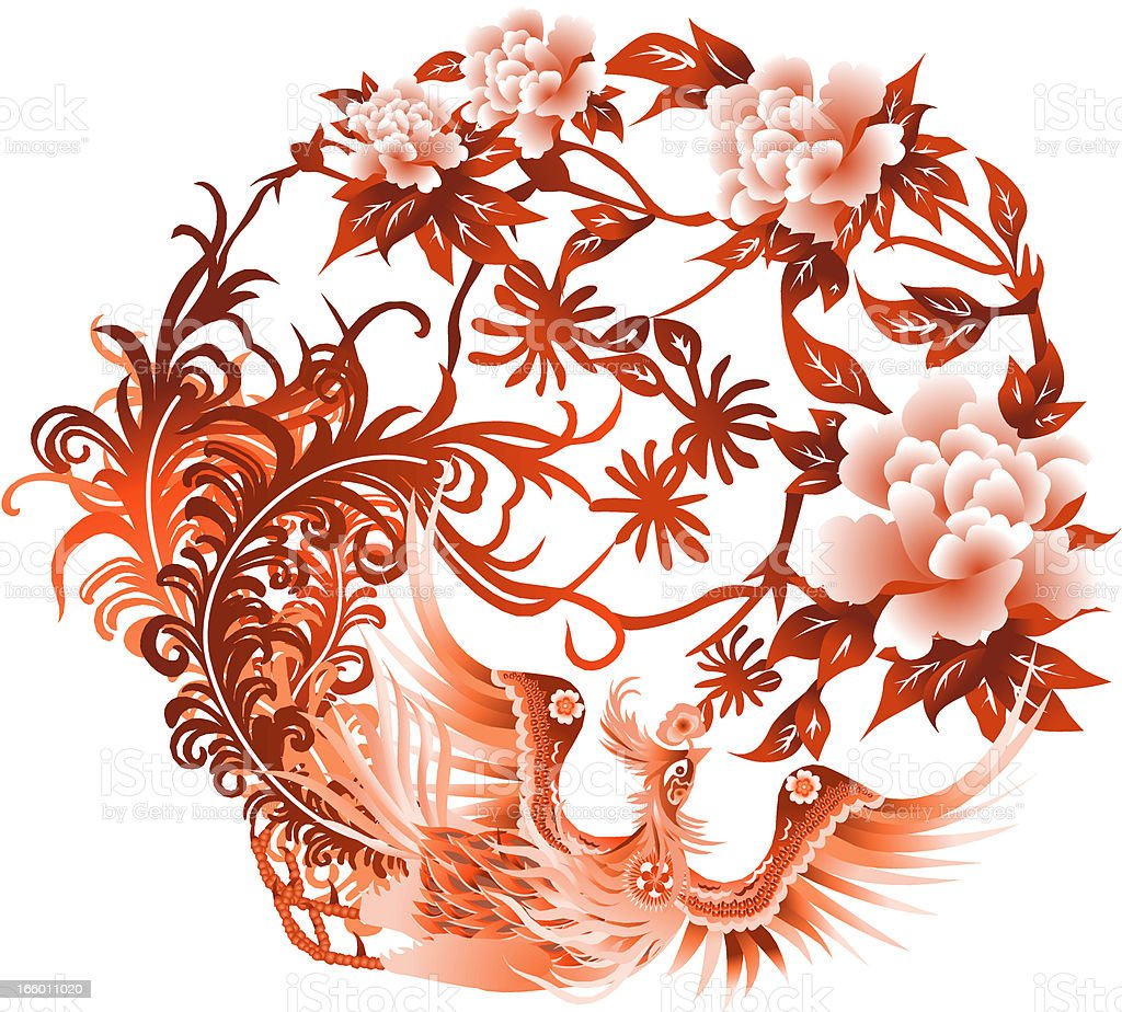 Chinese  Pheonix royalty-free stock vector art