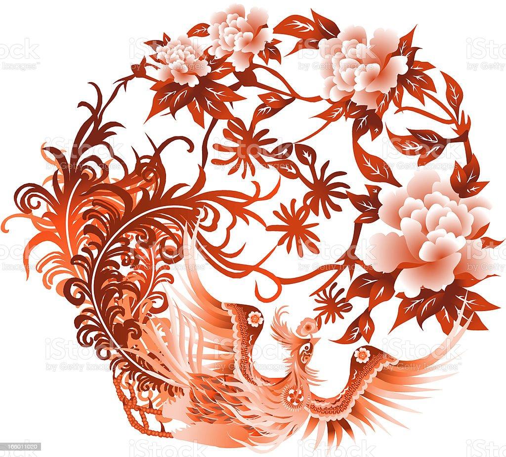 Chinese  Pheonix vector art illustration