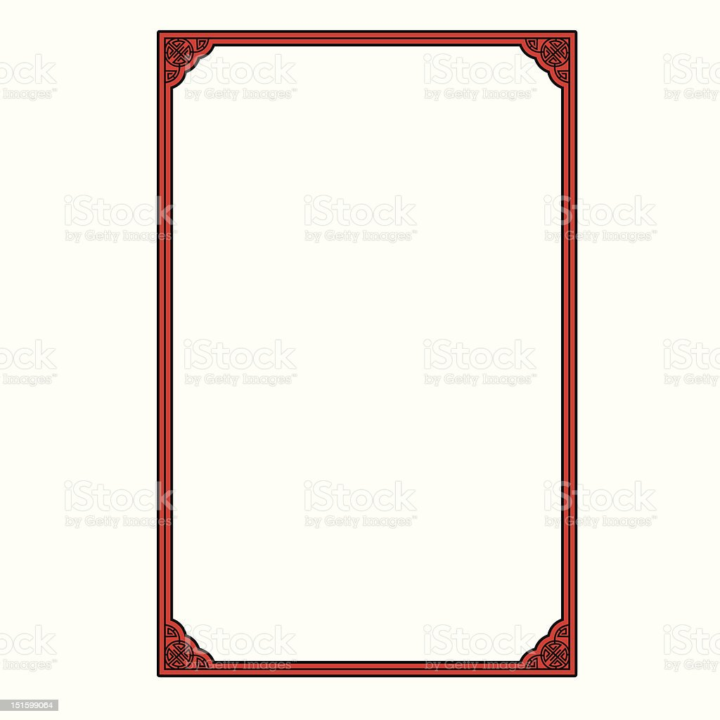 chinese picture frame vector art illustration