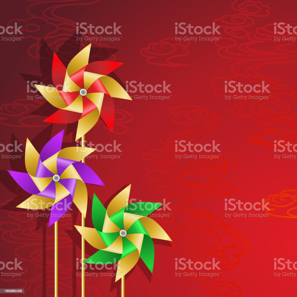 Chinese Pinwheel Background royalty-free stock vector art