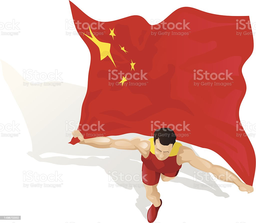 Chinese Race Winner royalty-free stock vector art