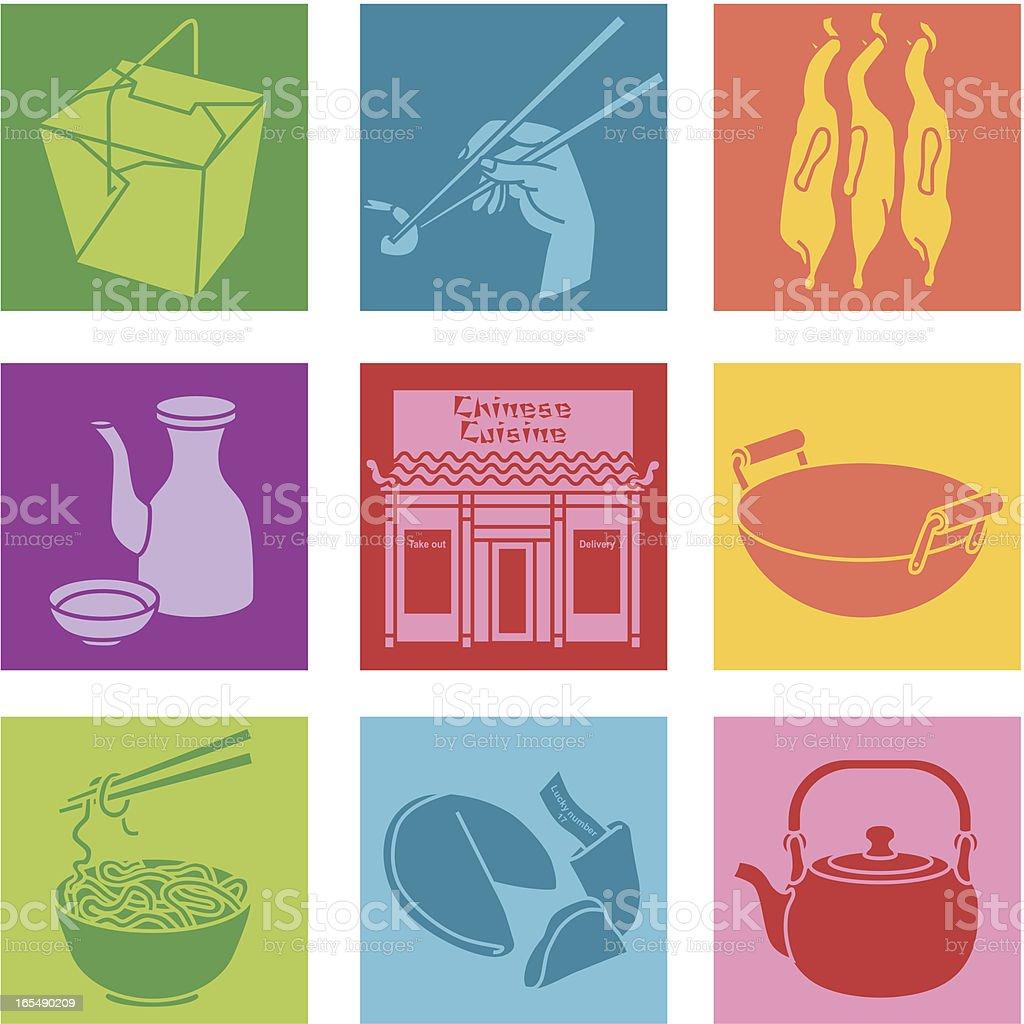 chinese restaurant vector art illustration