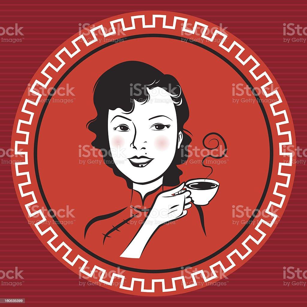 Chinese Retro Person vector art illustration