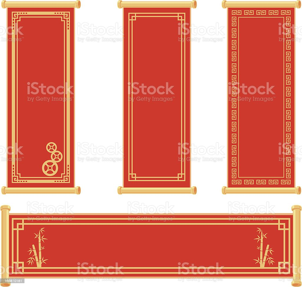 Chinese Scroll vector art illustration