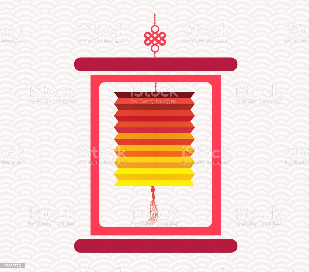 Chinese scroll with chinese calligraphy. Mid autumn festival vector art illustration