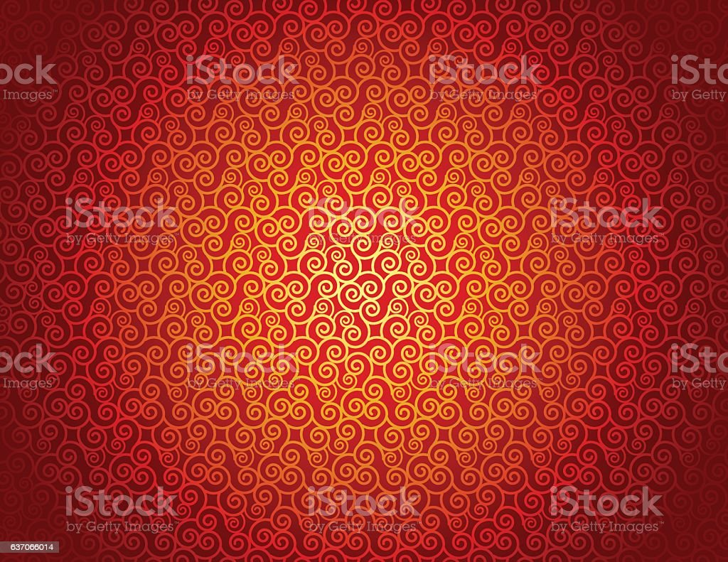 Chinese seamless pattern with curly lines background vector art illustration