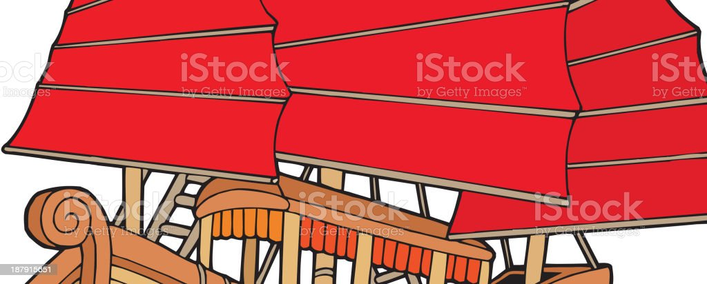 Chinese ship royalty-free stock vector art