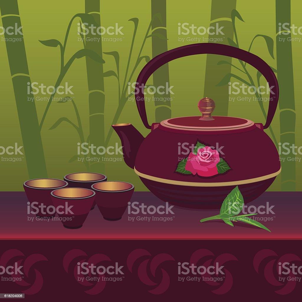 Chinese Tea royalty-free stock vector art