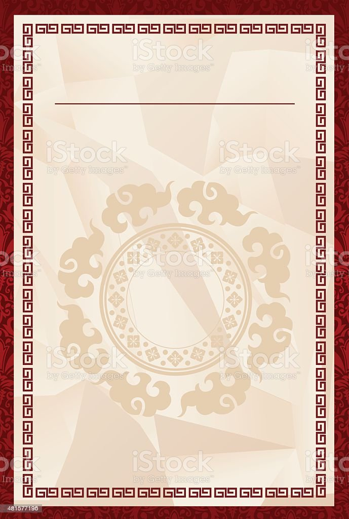 Chinese template Vector vector art illustration
