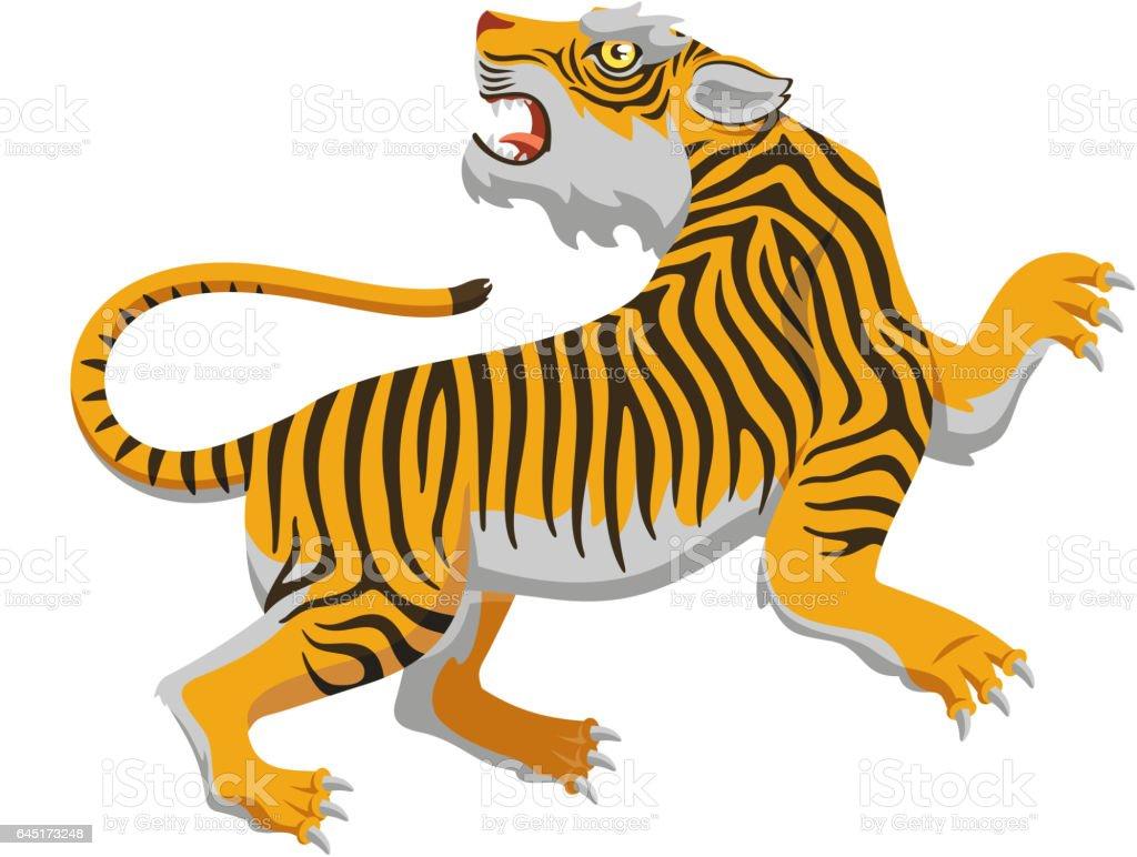 chinese tiger vector art illustration