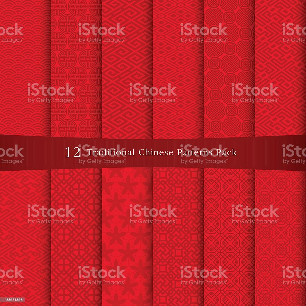 Chinese traditional pattern vector art illustration