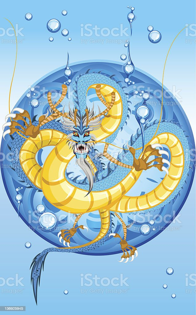 Chinese Water Dragon New Year vector art illustration