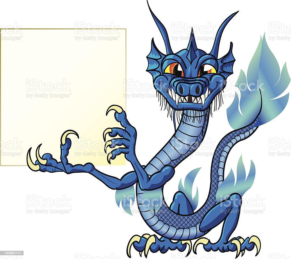 Chinese water dragon vector art illustration