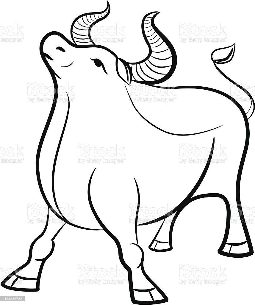 Chinese Zodiac - Ox royalty-free stock vector art